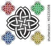 four petals logo symbol in... | Shutterstock .eps vector #401231008