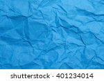 Blue Crumpled Paper Texture...