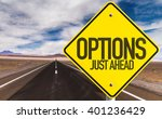 options just ahead sign on... | Shutterstock . vector #401236429
