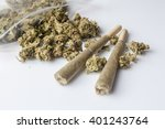 pile of medical cannabis dried... | Shutterstock . vector #401243764