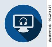 headphone icon isolated vector...