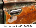 door handle of old car. | Shutterstock . vector #401246854