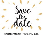 save the date inscription.... | Shutterstock .eps vector #401247136