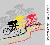 vector cycling illustration  ...   Shutterstock .eps vector #401254414