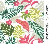 beautiful seamless tropical... | Shutterstock .eps vector #401259094