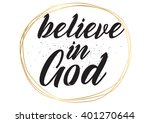 believe in god inspirational... | Shutterstock .eps vector #401270644