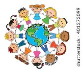 globe kids. international... | Shutterstock .eps vector #401272099