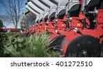 agricultural machinery on green ... | Shutterstock . vector #401272510