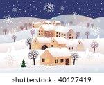 christmas night | Shutterstock .eps vector #40127419
