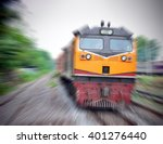 fast train with motion blur | Shutterstock . vector #401276440
