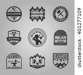 blacksmith handcraft logo... | Shutterstock .eps vector #401277109