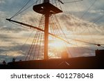 Closeup View Of Masts And...