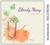 bloody mary. hand drawn vector... | Shutterstock .eps vector #401278258