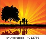 family walking | Shutterstock .eps vector #4012798