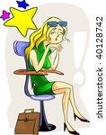 illustration of business women... | Shutterstock .eps vector #40128742