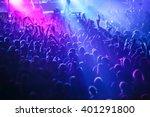 people crowd in concert lights | Shutterstock . vector #401291800