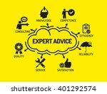 expert advice. chart with... | Shutterstock .eps vector #401292574