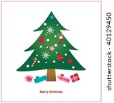 christmas card | Shutterstock .eps vector #40129450