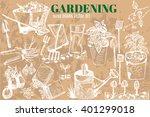 Hand Drawn Vector Garden Tools...