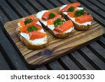 close up fresh salmon raw... | Shutterstock . vector #401300530