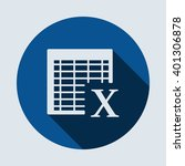 excel icon isolated vector flat ... | Shutterstock .eps vector #401306878