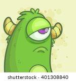 sad monster | Shutterstock .eps vector #401308840
