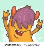punk rock monster | Shutterstock .eps vector #401308960