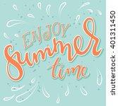 vector hand drawn lettering... | Shutterstock .eps vector #401311450