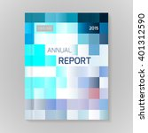 annual report cover vector... | Shutterstock .eps vector #401312590