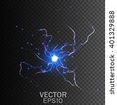 lightning on a transparent... | Shutterstock .eps vector #401329888