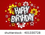 happy birthday greeting card on ... | Shutterstock .eps vector #401330728