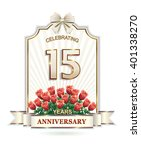 15 Years Anniversary Card With...