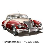 retro car. | Shutterstock .eps vector #401339503
