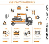 car service infographics set... | Shutterstock .eps vector #401342098
