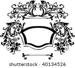 illustration with scroll and... | Shutterstock .eps vector #40134526
