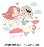Cute Girl And Boy. Love Card....