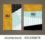 set of brochures with hand... | Shutterstock .eps vector #401348878