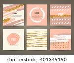 set of brochures with hand... | Shutterstock .eps vector #401349190