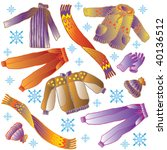 winter clothes | Shutterstock .eps vector #40136512