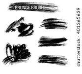 vector set of grunge brush... | Shutterstock .eps vector #401365639