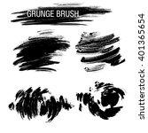 vector set of grunge brush...   Shutterstock .eps vector #401365654