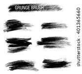 vector set of grunge brush... | Shutterstock .eps vector #401365660