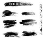 vector set of grunge brush... | Shutterstock .eps vector #401365660