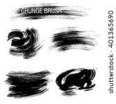 vector set of grunge brush... | Shutterstock .eps vector #401365690