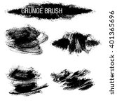 vector set of grunge brush... | Shutterstock .eps vector #401365696