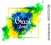inscription brazil 2016 on... | Shutterstock .eps vector #401371258