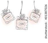 perfume bottle vector. trendy... | Shutterstock .eps vector #401387026