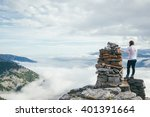 thinking mountains | Shutterstock . vector #401391664