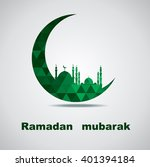 illustration of ramadan ... | Shutterstock .eps vector #401394184