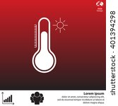 thermometer icon   vector... | Shutterstock .eps vector #401394298